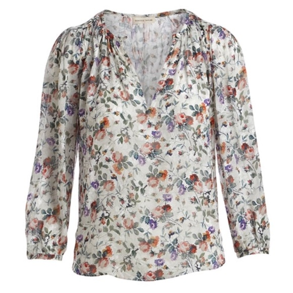 3285840d0957 NWT Rebecca Taylor long sleeve floral Top size 4